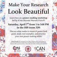 iCons Alumna hosts Poster Workshop