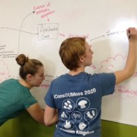 iCons 1 Team mapping out system related to Antibiotic Resistance