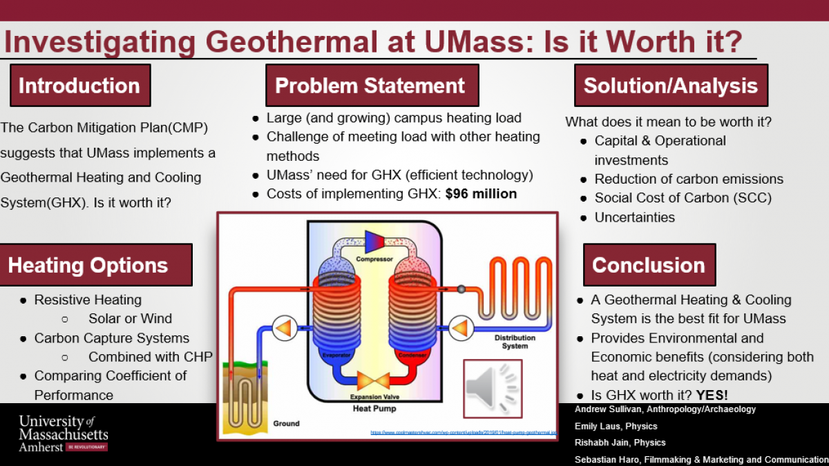 Geothermal Heating at UMass Amherst: Is It Worth It?